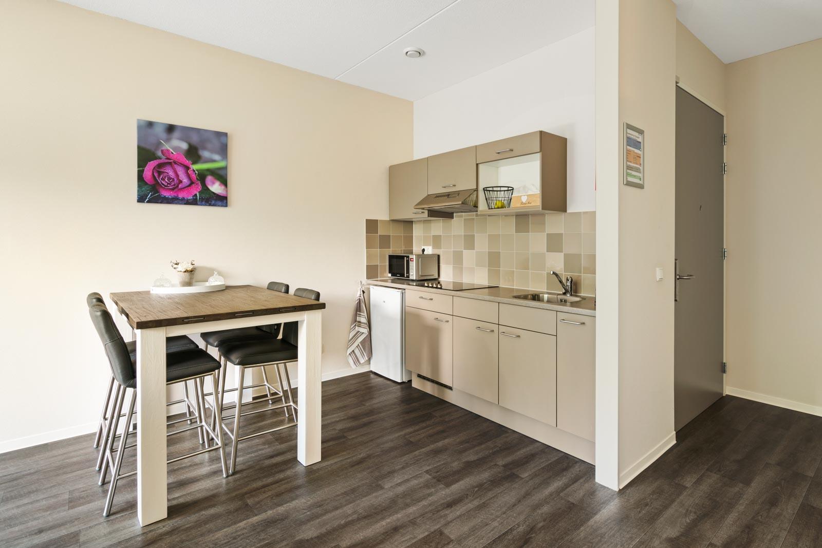 Keuken van appartement bij SDW t Zand